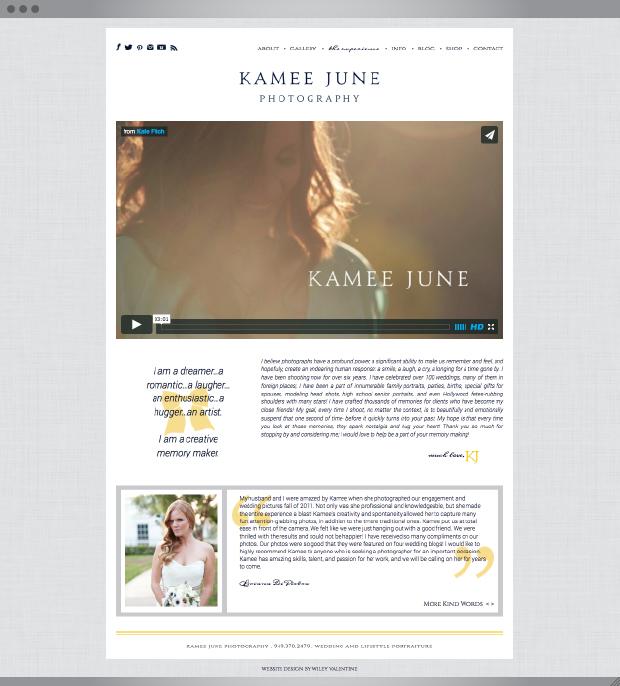 Kamee June Website | Sarah McDonald