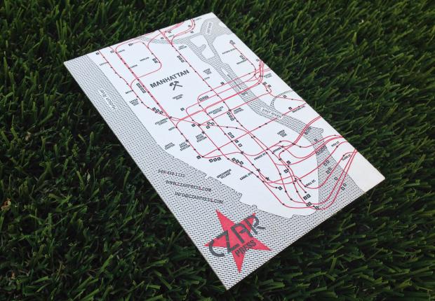 Czar Press NYC Letterpress Map | Sarah McDonald